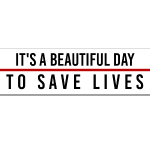 It's A Beautiful Day To Save Lives Anatomy McDreamy Quote Grey Sticker 8