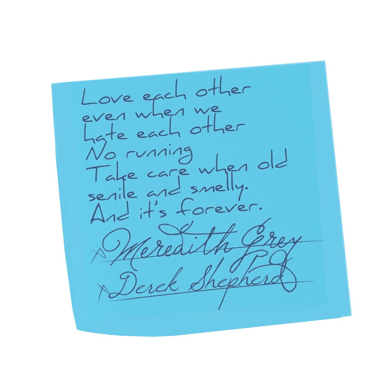 Love Eachother Sticky Note Marriage Meredith Derek Vows ...