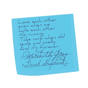 Love Eachother Sticky Note Marriage Meredith Derek Vows Grey Sticker 5