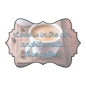 Love Is In The Air And It Smells Like Coffee Gilmore Lorelai Quote Sticker 4