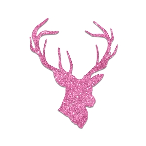 Deer Buck Head Pink Glitter Country Girl Sticker 5
