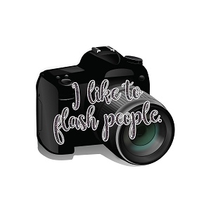 I Like To Flash People Photographer Joke Camera Sticker 4
