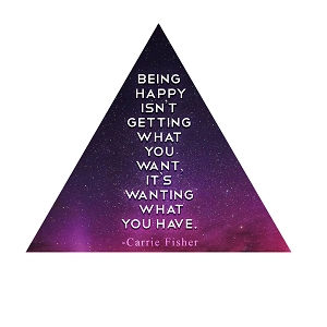 Being Happy Isn't Getting What You Want Fisher Quote Carrie Sticker 4