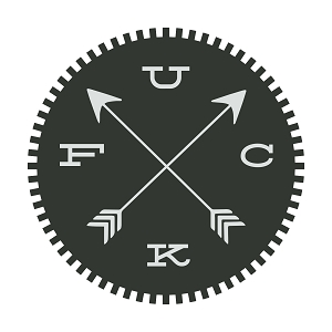 F U C * Arrows Compass Funny Outdoors Sticker 5