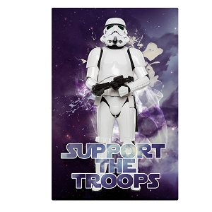 Storm Trooper Inspired Support The Troops Silhouette Galaxy Sticker 4