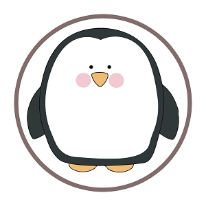 Cute Penguin Character Sticker 5
