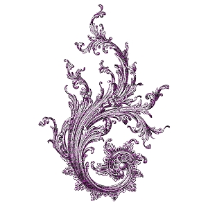 Vintage Ornamental Swirl Purple Sticker 4