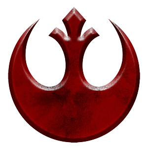 Rebel Inspired Symbol Red Alliance Sticker 5