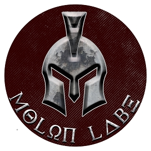 Molon Labe Burgundy Silver Spartan Helmet Circle Sticker 4