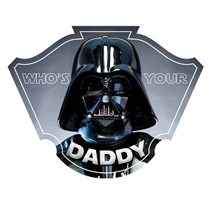 Darth Parody Who's Your Daddy Funny Sticker 5