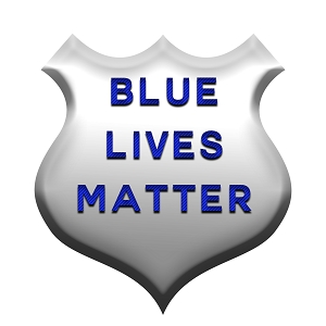 Blue Lives Matter Police PD Cops Appreciation Love Silver Badge Sticker 5