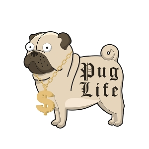 Pug Life Thug Dog Cartoon Gold Chain Necklace Sticker 5