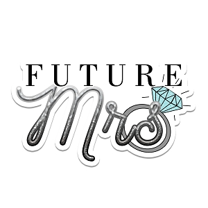Future Mrs Engaged Diamond Ring Wedding Marriage Bride Sticker 6