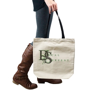Decal Serpent Tote Handbag Shoulder Bag Purse