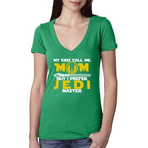 My Kids Call Me Mom But I Prefer Jedi Master Women's Cotton V Neck T-Shirt