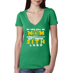 My Kids Call Me Mom But I Prefer Sith Lord Women's Cotton V Neck T-Shirt
