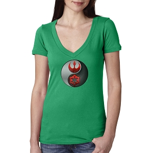 Yin Rebel Galactic Yang Women's Cotton V Neck T-Shirt