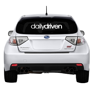 Daily Driven Rear Windshield Outdoor Vinyl Decal Sticker - 30