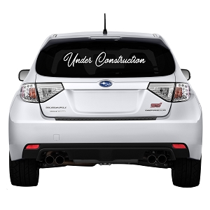 Under Construction Rear Windshield Outdoor Vinyl Decal Sticker - 32
