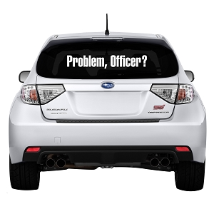 Problem Officer? Rear Windshield Outdoor Vinyl Decal Sticker - 35