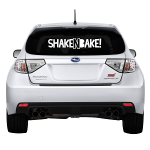 Shake N Bake Rear Windshield Outdoor Vinyl Decal Sticker - 28