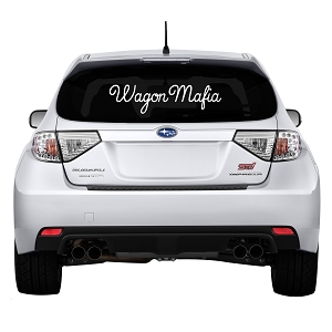 WagonMafia Rear Windshield Outdoor Vinyl Decal Sticker - 23