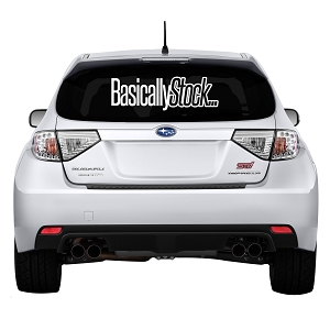 Basically Stock … Rear Windshield Outdoor Vinyl Decal Sticker - 19