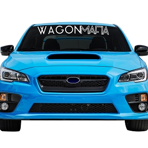 Wagon Mafia Car Windshield Banner Decal Sticker  - 5