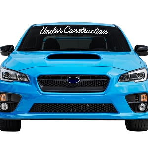 Under Construction Car Windshield Banner Decal Sticker  - 5
