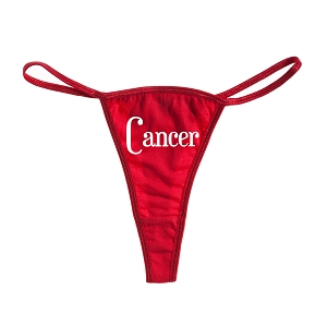 Cancer Zodiac Sign Women's Cotton Thong Bikini
