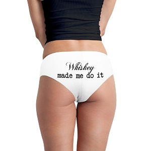 Whiskey Made Me Do It Funny Women's Boyshort Underwear Panties