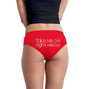Take Me Off Right Meow Funny Women's Boyshort Underwear Panties