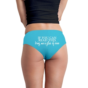 If You Can Read This Bring Me A Glass Of Wine Funny Women's Boyshort Underwear Panties