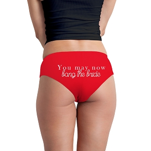 You May Now Bang The Bride Just Married Funny Women's Boyshort Underwear Panties