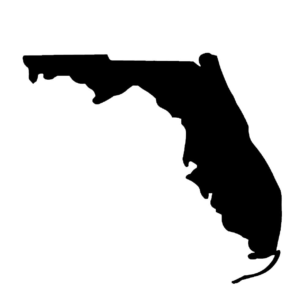Florida State Silhouette Vinyl Sticker Car Decal