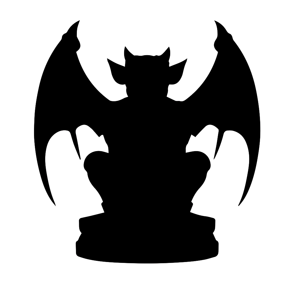 Gargoyle Silhouette Vinyl Sticker Car Decal