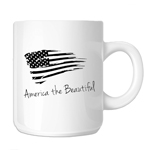 Patriotic America the Beautiful USA Flag 11oz. Novelty Coffee Mug