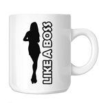 Like a Boss Girl Silhouette 11oz. Novelty Coffee Mug