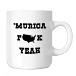 Funny Patriotic Murica F*ck Yeah 11oz. Novelty Coffee Mug