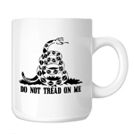 Do Not Tread on Me Patriotic Snake 11oz. Novelty Coffee Mug