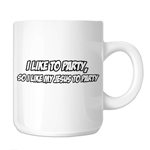 Funny Cal Naughton Jr I Like My Jesus to Party 11oz. Novelty Coffee Mug