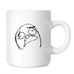 Scared Funny Meme Face 11oz. Novelty Coffee Mug