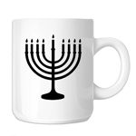 Jewish Hanukkah Menorah Silhouette 11oz. Novelty Coffee Mug
