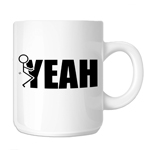 Funny Humping Stick Figure F*ck Yeah 11oz. Novelty Coffee Mug