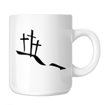 Calvary Hill Silhouette Crosses Christian 11oz. Novelty Coffee Mug