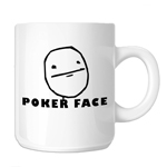 JDM Funny Poker Face Cartoon Meme 11oz. Novelty Coffee Mug