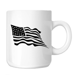 Waving USA Flag Patriotic 11oz. Novelty Coffee Mug