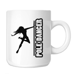 Sexy Pole Dancer Girl Silhouette 11oz. Novelty Coffee Mug