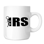 Funny Stick Figure Humping F*ck the IRS 11oz. Novelty Coffee Mug
