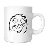 Funny Laughing Meme Face 11oz. Novelty Coffee Mug